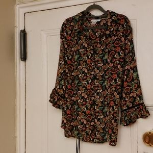 North Style long sleeve Blouse Size XL